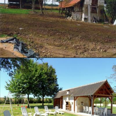 Gîte : avant/après travaux